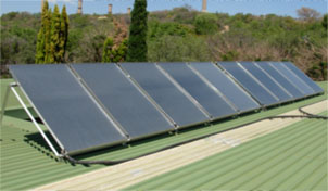 NECSA - 10 Solar Collectors - 1000L Fresh Water System