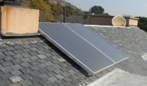Solar Collectors  on Slate Roof, Johannesburg