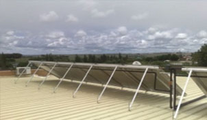 Solar Collectors on IBR Roofing, Secunda